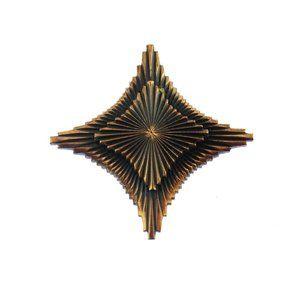 Modernist Copper Cross Brooch
